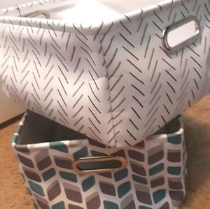 2 fabric Canvas Storage Bins